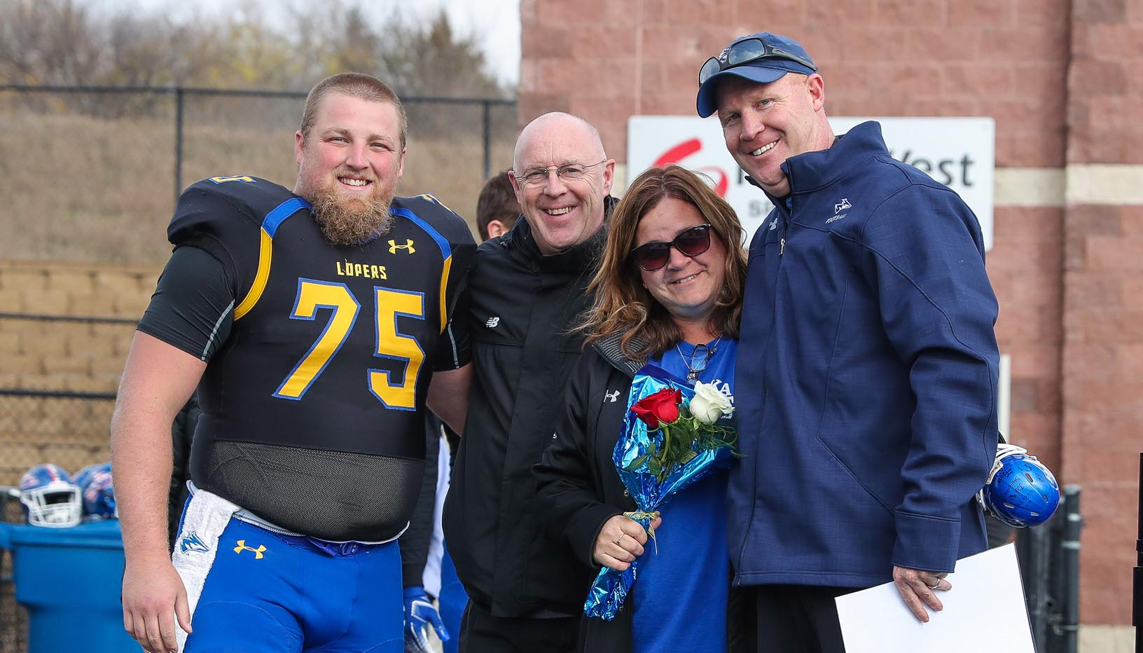David Squiers, who finished his career last season, was a standout offensive lineman for the UNK football team. He is among four members of the Squiers family to compete as Lopers for UNK, where his dad Rick is the head volleyball coach.