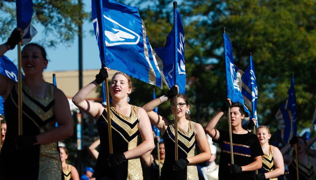 A Loper and community tradition, the UNK homecoming parade begins 10 a.m. Saturday (Oct. 5) at the Museum of Nebraska Art, 2401 Central Ave., in downtown Kearney. (Photo by Corbey R. Dorsey, UNK Communications)