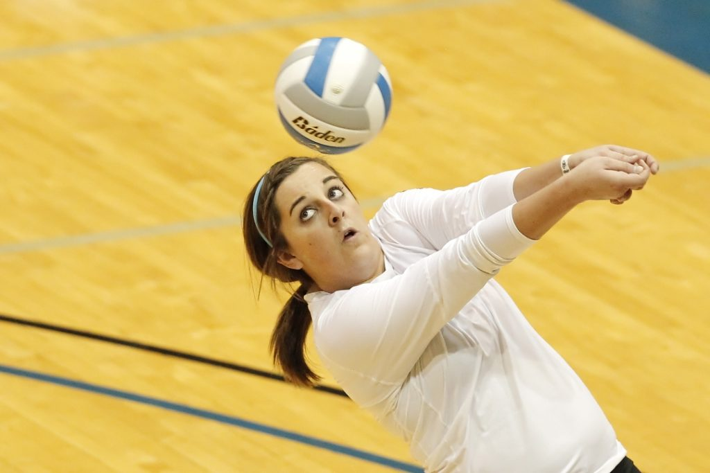 Jordan Squiers played volleyball for the Lopers in the 2007, 2008 and 2011 seasons and was the first of three sisters to play for her father, Rick, at UNK.