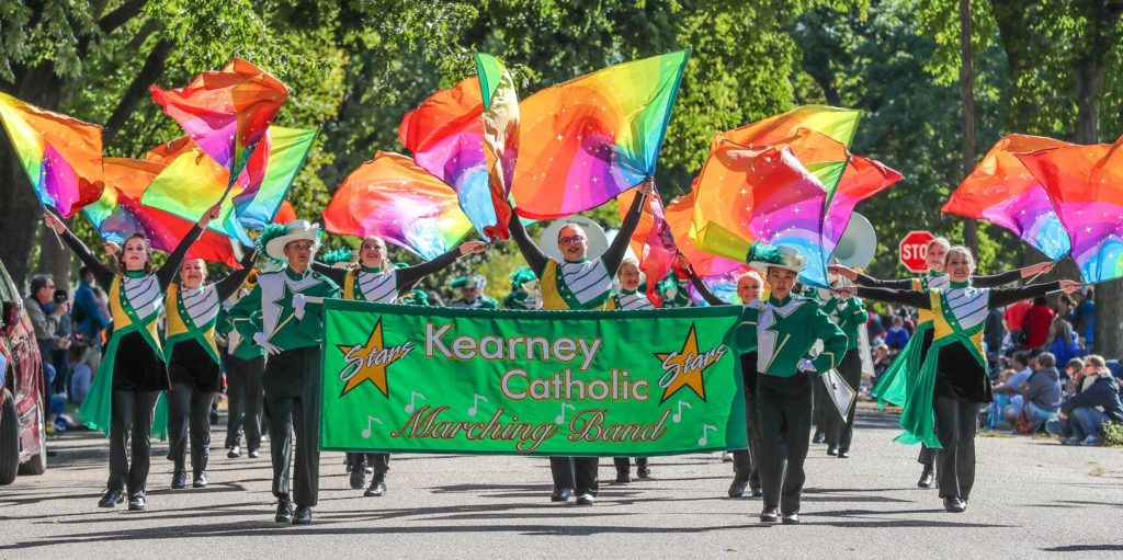 Kearney Catholic is among 24 bands that will march at 10 a.m. Saturday in the University of Nebraska at Kearney's Band Day Parade.