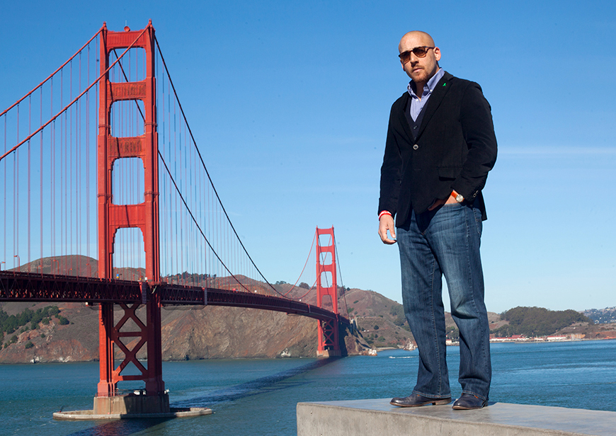 Kevin Hines, who survived a suicide attempt after jumping from the Golden Gate Bridge, will speak 7 p.m. Oct. 9 at UNK. The suicide prevention and mental health advocate uses his remarkable story to shine a light on the mental health crisis and spread a message of hope and healing. (Photos courtesy of Kevin Hines)