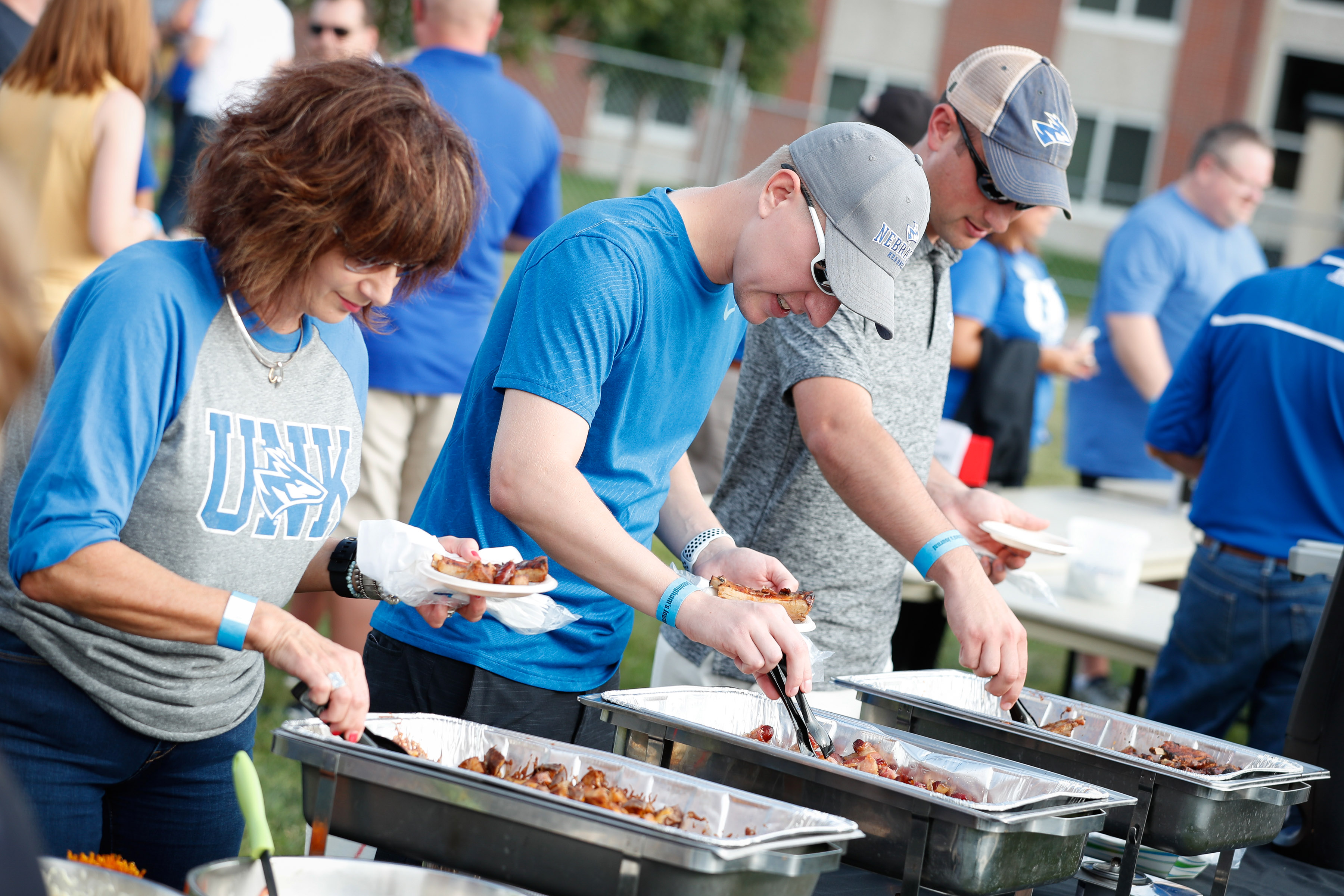 UNK is introducing a new tailgating event to generate more excitement at home football games. Loper Fan Fest features free food, live music, games and beverages, including alcohol for those 21 and older. (Photo by Corbey R. Dorsey, UNK Communications)