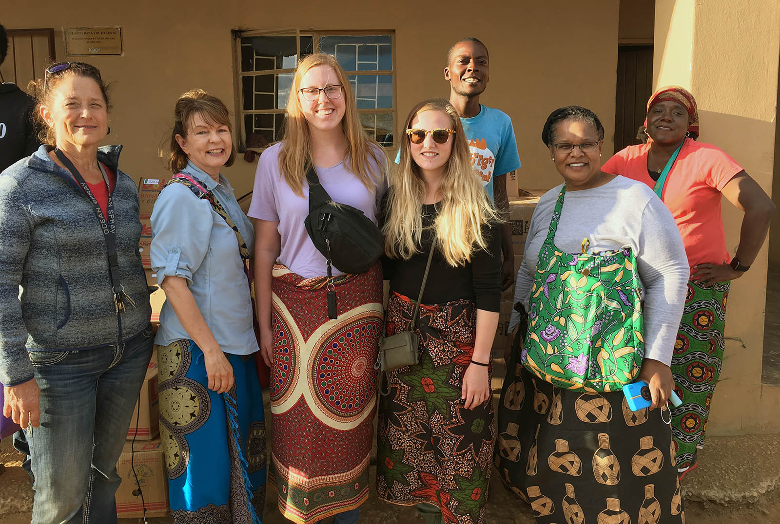 A group of UNK students and faculty traveled to Zambia this summer to work with Dr. Marjie Heier, left, at the Chifundo Rural Health Center, where Heier serves as medical director. Heier will speak Wednesday during the Global Perspective on Telecare and Rural Health forum hosted by UNK. (Courtesy photo)