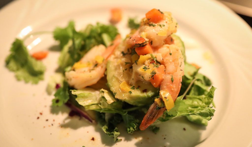 Chilean dishes such as this avocado and shrimp salad were on the menu at UNK's main dining hall this week.