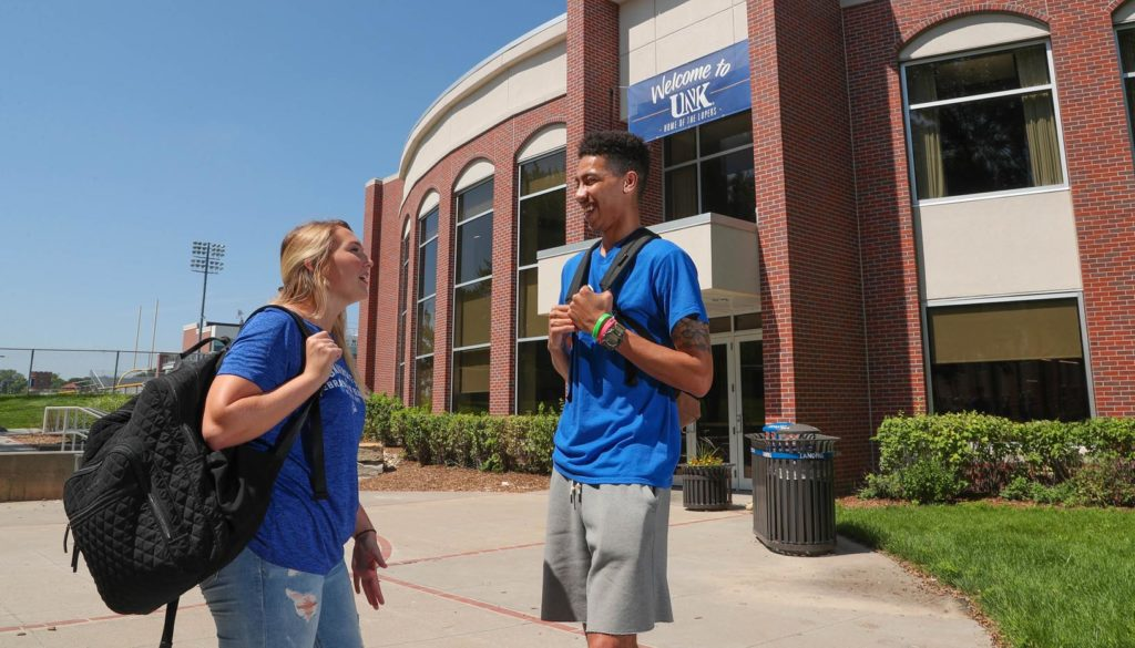 """UNK treats people like a family,"" said Sam Morris, who plays for the Loper men's basketball team. ""It's like a brotherhood to me. That really captured my attention because I knew I would feel safe here and be comfortable here."""