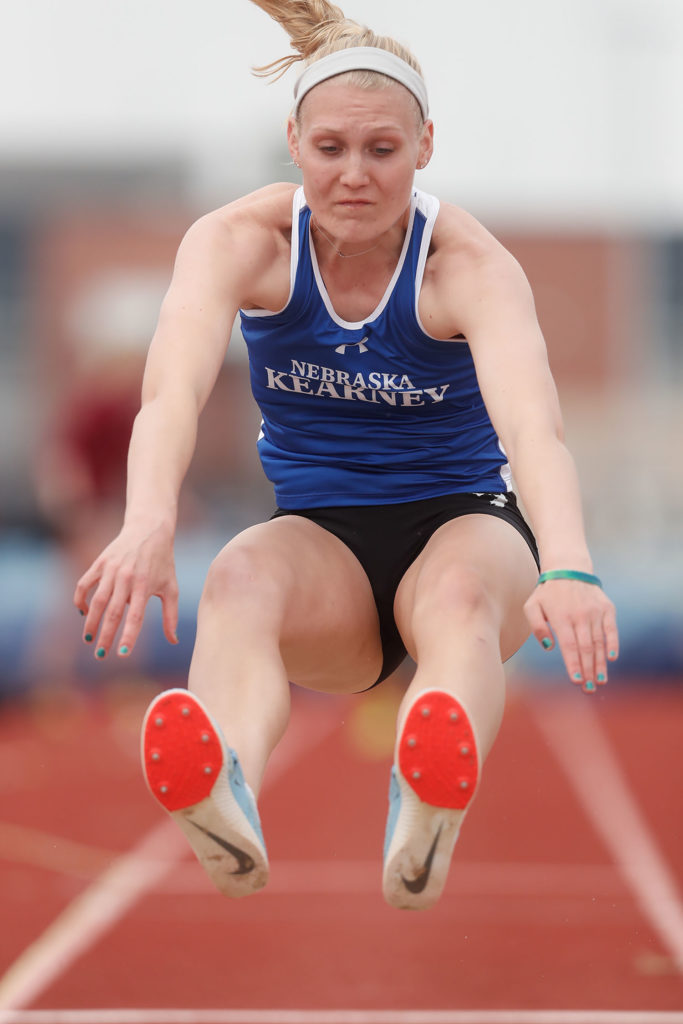 Mackenzie Puckett ranks fifth in UNK history with an effort of 38 feet, 2 1/4 inches in the indoor triple jump and she's fourth all-time in the outdoor event with a jump of 39-4 1/2.