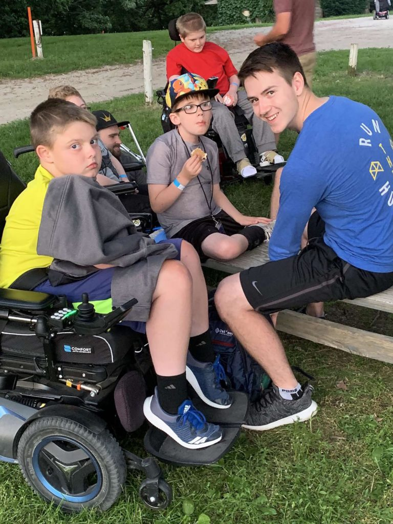 UNK senior Corey Johnson has volunteered the past two years at the Muscular Dystrophy Association summer camp in Nebraska. (Courtesy photo)