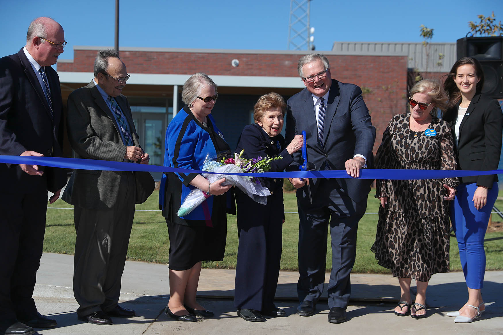 UNK celebrated its new LaVonne Kopecky Plambeck Early Childhood Education Center with a ribbon-cutting event earlier this month. On Friday, community members and parents can check out the $7.8 million center during a public open house. (Photo by Corbey R. Dorsey, UNK Communications)