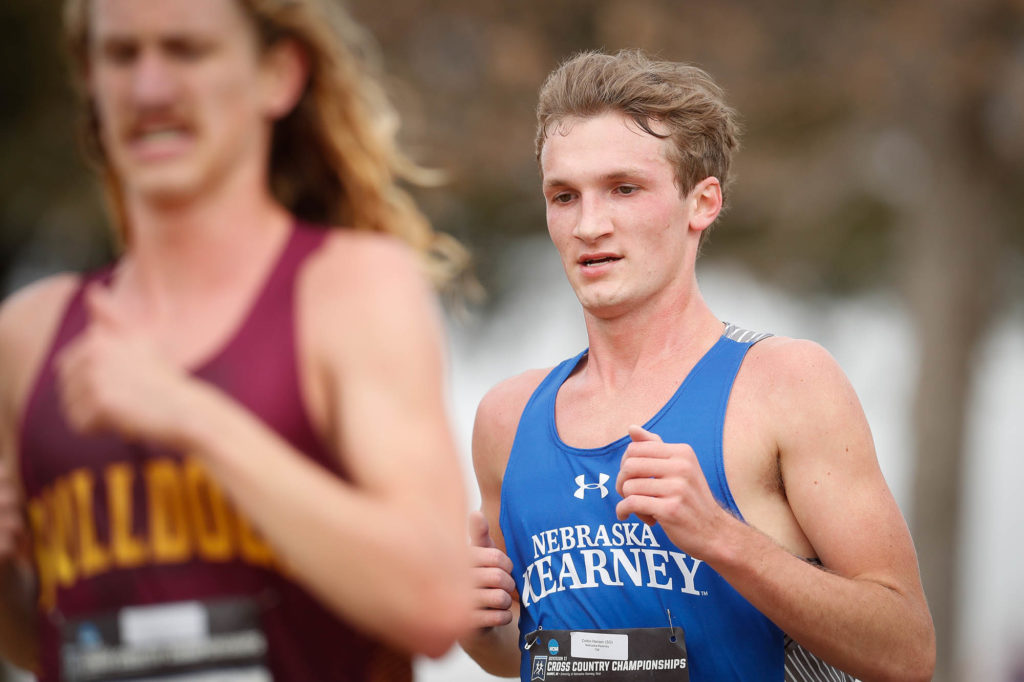 UNK senior Corbin Hansen has led the men's cross country team in every event over the past two seasons, earning first team all-conference honors both years. He was an all-region performer in 2017, 2018 and 2019. (Photo by Corbey R. Dorsey, UNK Communications)