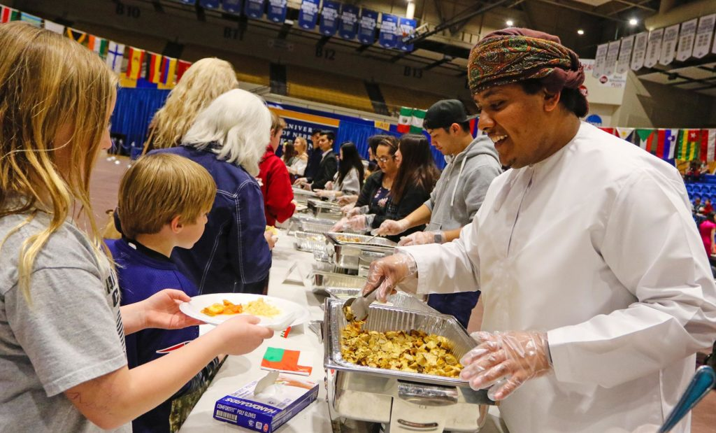About 1,500 people attend the annual Scott D. Morris International Food and Cultural Festival hosted by UNK's International Student Association.