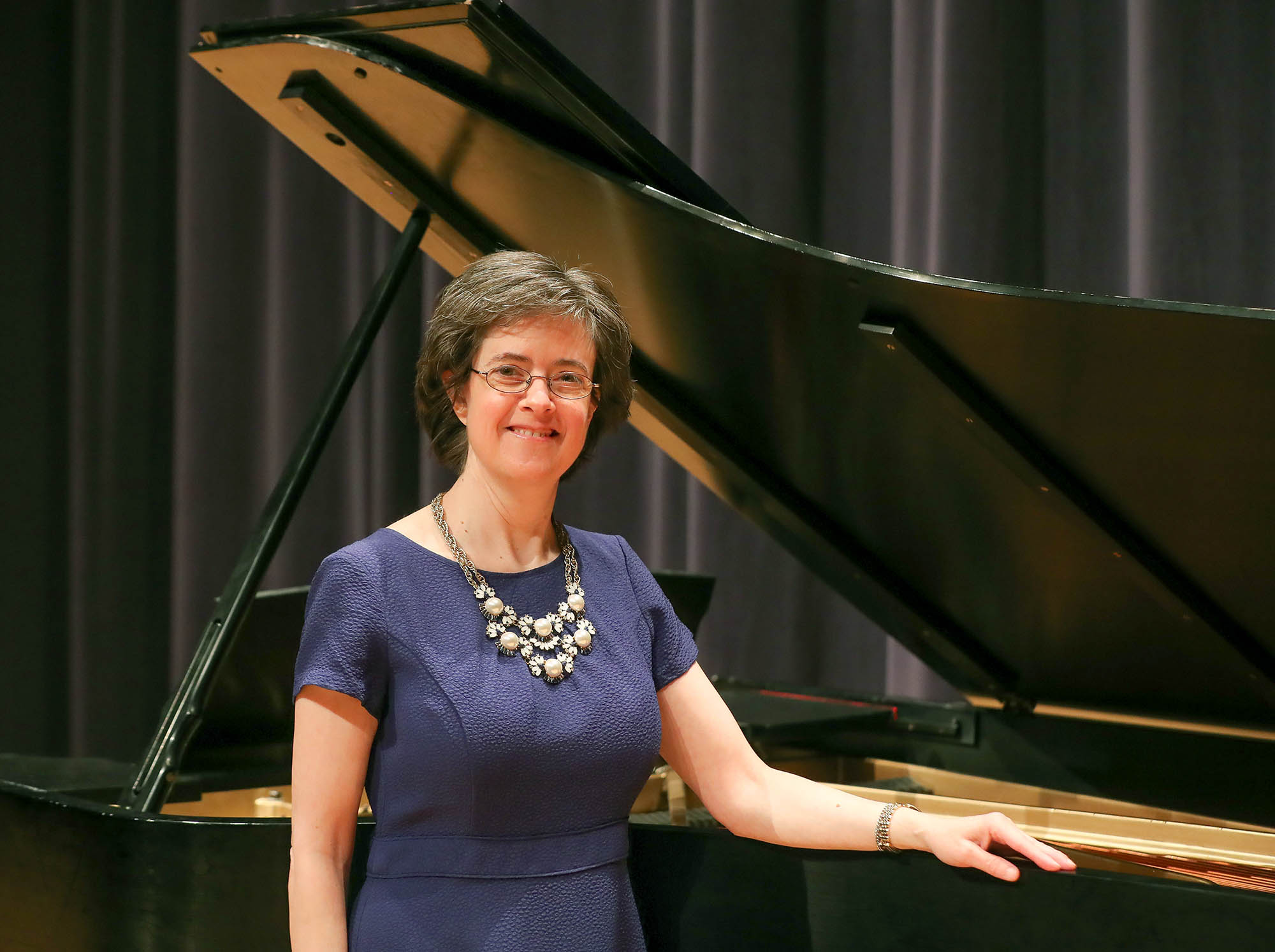 Associate professor of teacher education Dawn Mollenkopf will perform 3 p.m. Sunday in UNK's Fine Arts Recital Hall. It's the first full voice recital for Mollenkopf, who has severe-to-profound hearing loss. (Photos by Corbey R. Dorsey, UNK Communications)