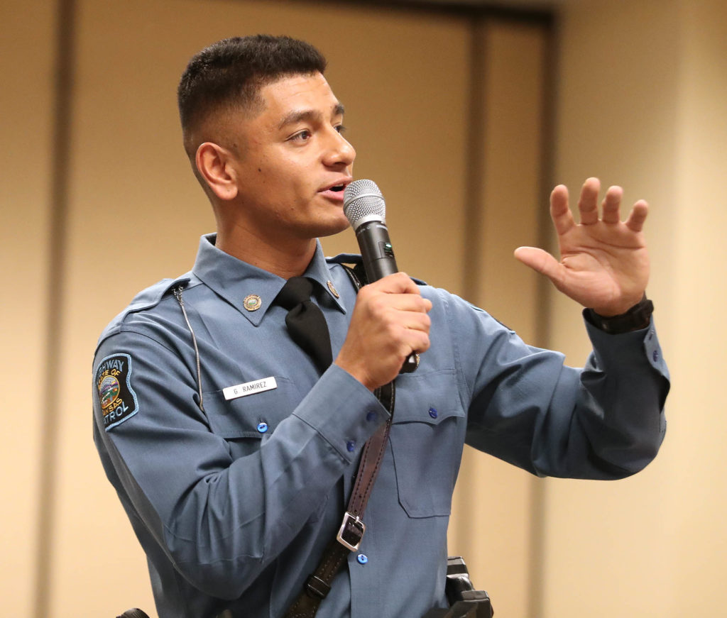 Gustavo Ramirez, who graduated from UNK in 2012, has been a trooper with the Kansas Highway Patrol for two years.