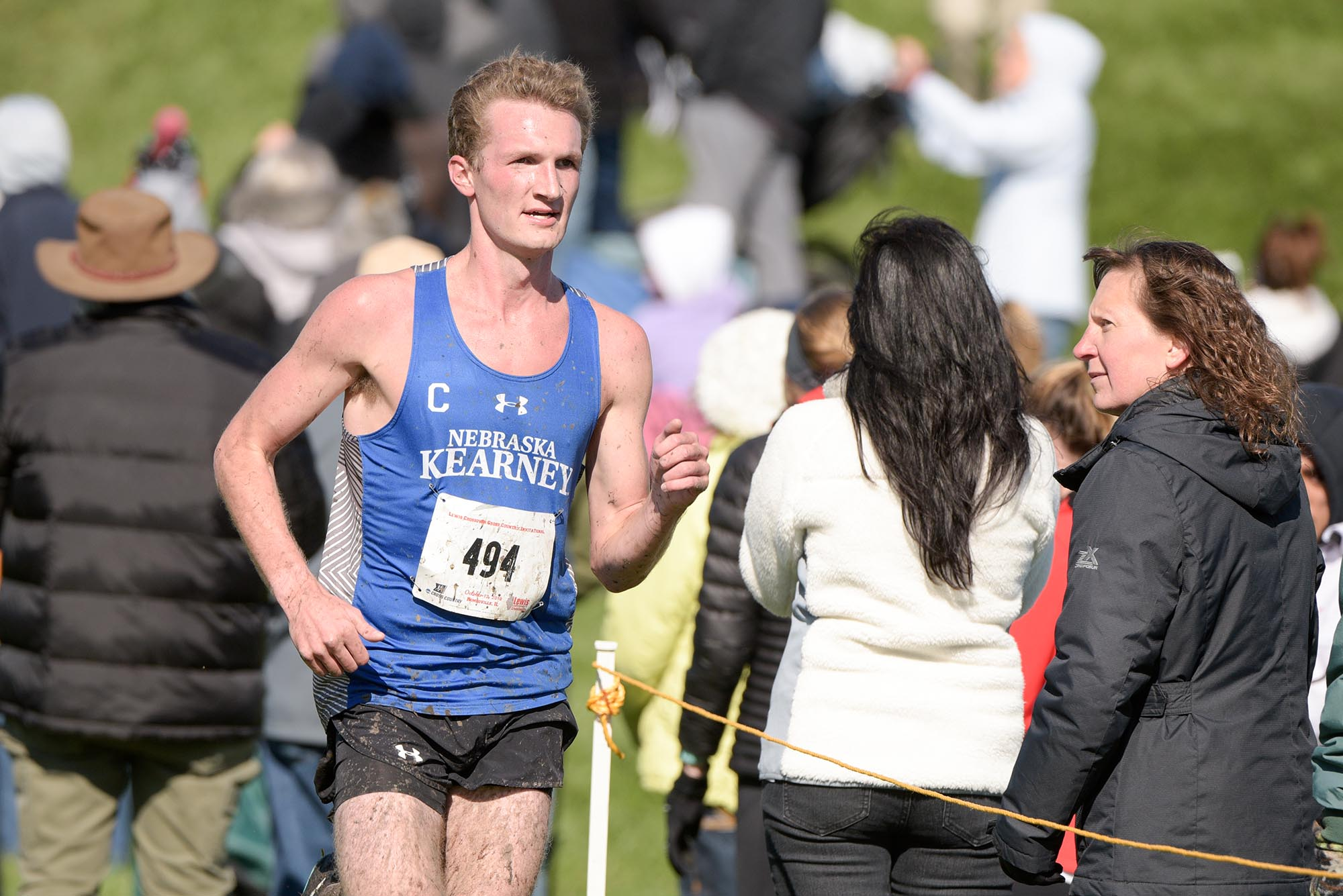 """Although he's battled injuries the past two years, UNK senior Corbin Hansen never lets his teammates down. """"No matter the race, they know I'm going to give it my all,"""" he said. (Courtesy of Steve Woltmann Photography)"""