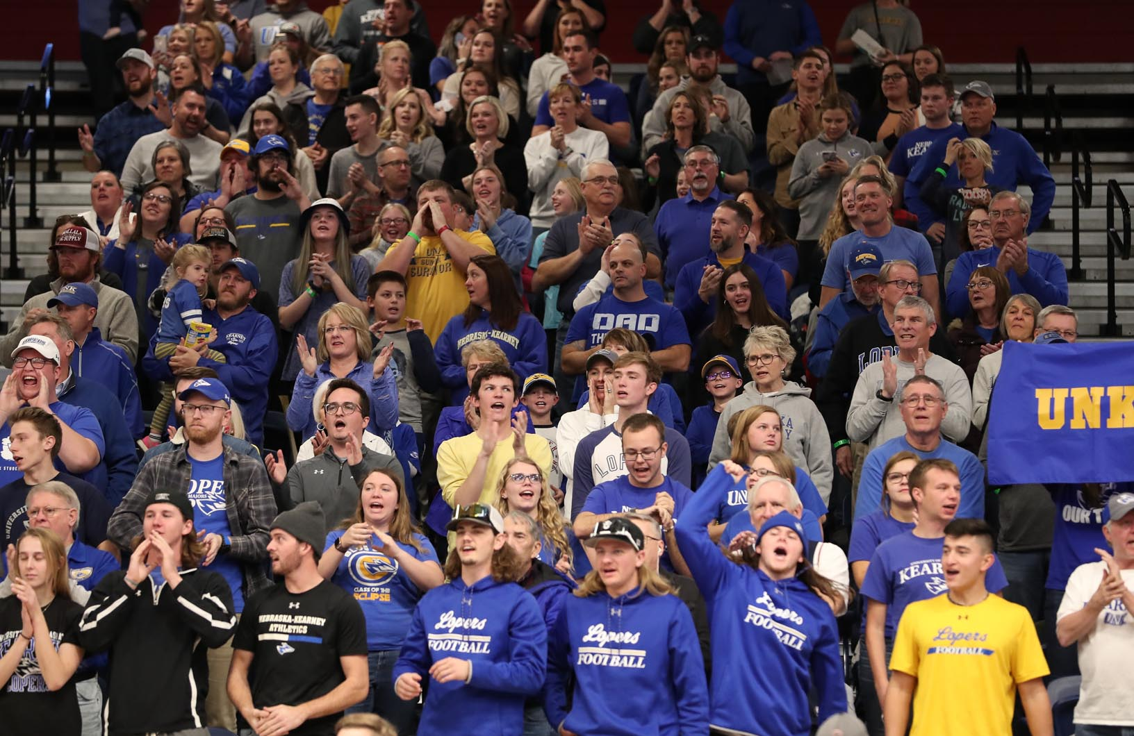 Approximately 700 UNK fans traveled to Denver to support the volleyball team during Saturday's NCAA Division II championship at Auraria Event Center.
