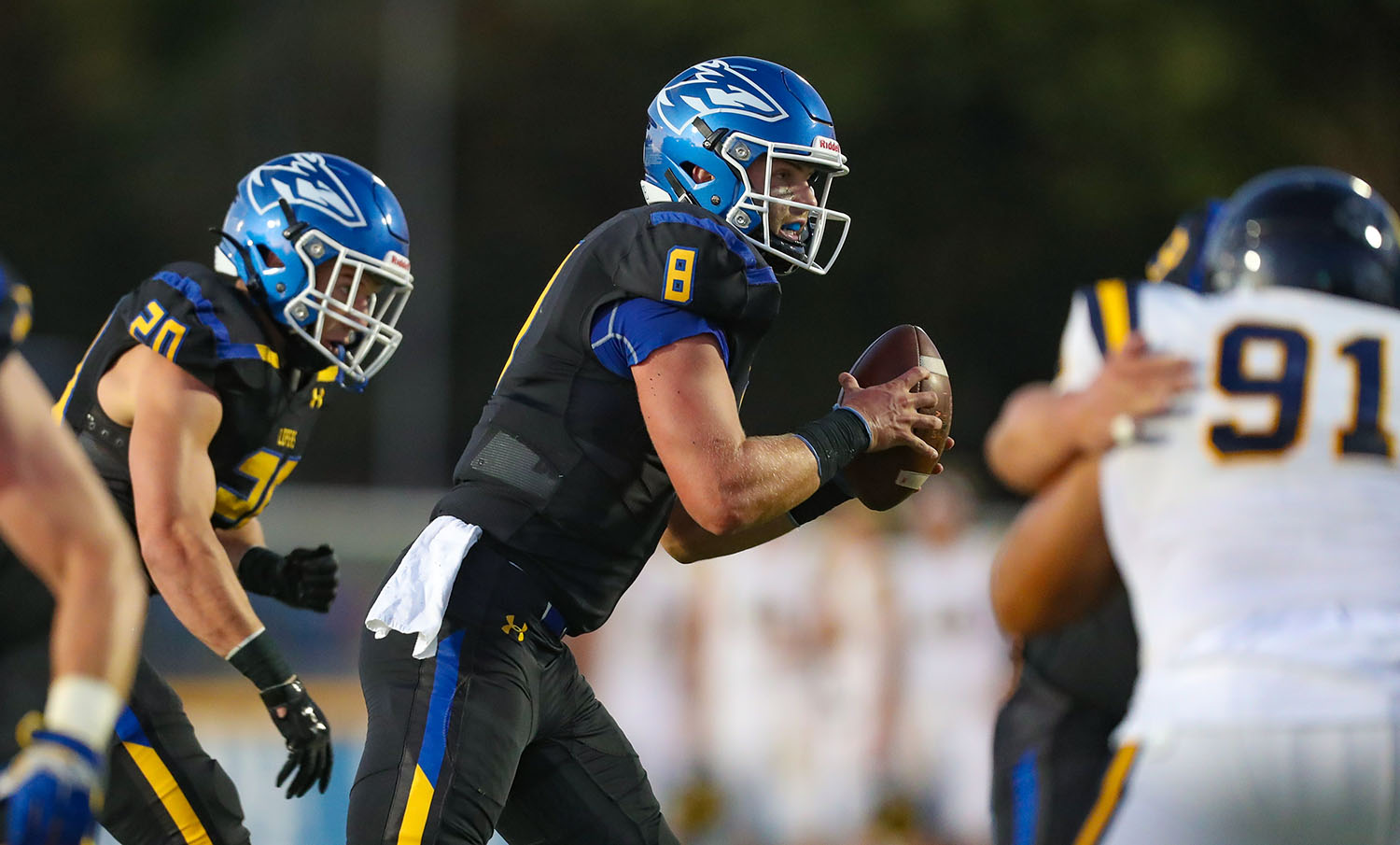 """""""I could name about 40 different dudes who were a big reason why I wanted to stay,"""" fifth-year senior Alex McGinnis said. """"There's definitely a correlation between our success and the type of people who are in the program."""" (UNK Communications)"""