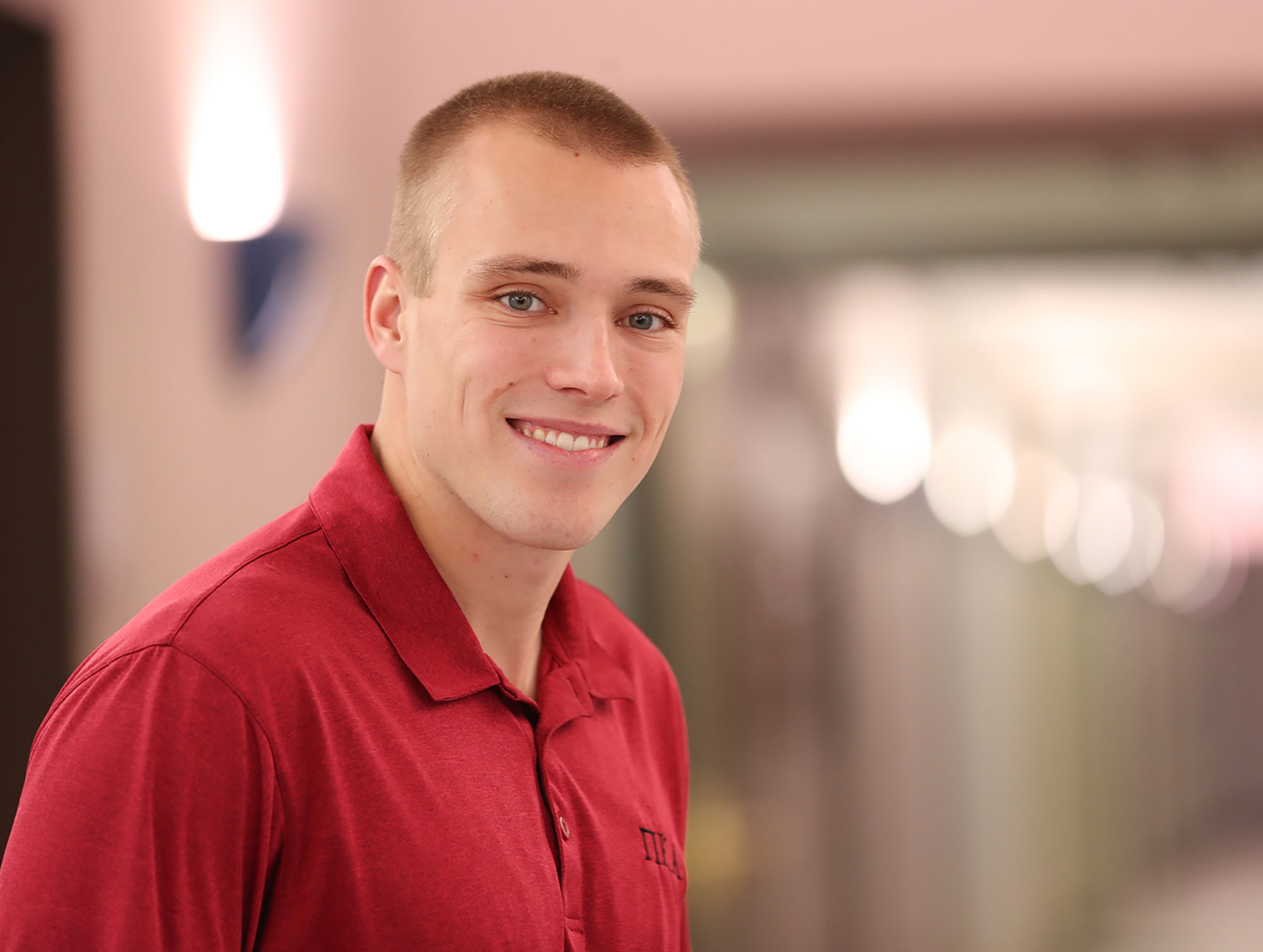 Ryan Clark of Kearney will deliver the student address during Friday's winter commencement at UNK. Clark is graduating summa cum laude with bachelor's degrees in mathematics and business administration with a finance emphasis. (Photo by Corbey R. Dorsey, UNK Communications)