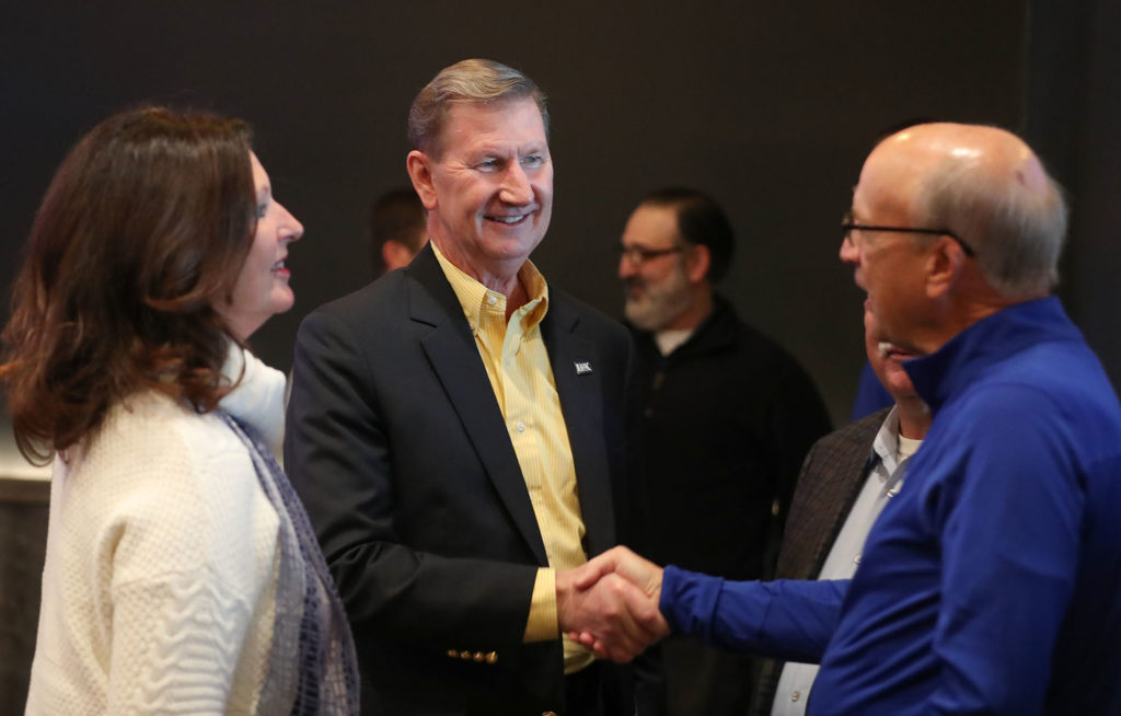 After being named the Board of Regents' priority candidate for president on Oct. 25, Ted Carter underwent a monthlong review period that included almost 30 public events in a dozen Nebraska communities. (Photo by Corbey R. Dorsey, UNK Communications)