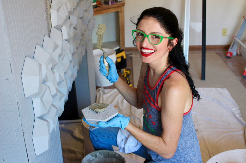 "Jenna Pilant took do-it-yourself to another level when she decided to modernize the Southern California home she and her husband Darrell purchased four years ago. Pilant is documenting the entire process through her self-produced home renovation show, ""Room Bloom."" (Courtesy photo)"