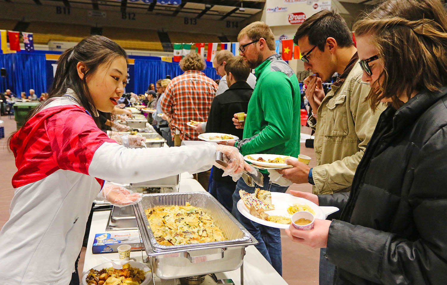 Attendees can sample cuisine from 11 different countries at this year's Scott D. Morris International Food and Cultural Festival, which is scheduled for 4-6 p.m. March 8 at UNK's Health and Sports Center. (Photos by Todd Gottula, UNK Communications)