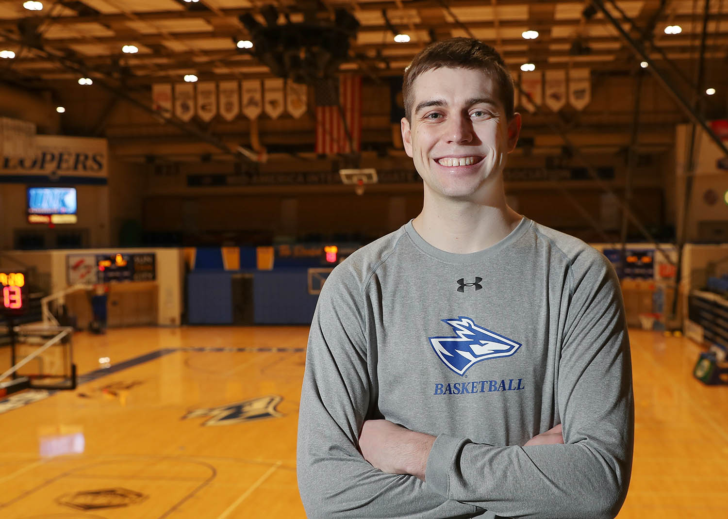 Morgan Soucie, a forward on the UNK men's basketball team, comes from an athletic family. His father Darren played basketball for UNK from 1984-87 and his sister Tayler was an All-Big 12 volleyball player at the University of Kansas, where brother Brendan competed on the cross country and track and field teams.