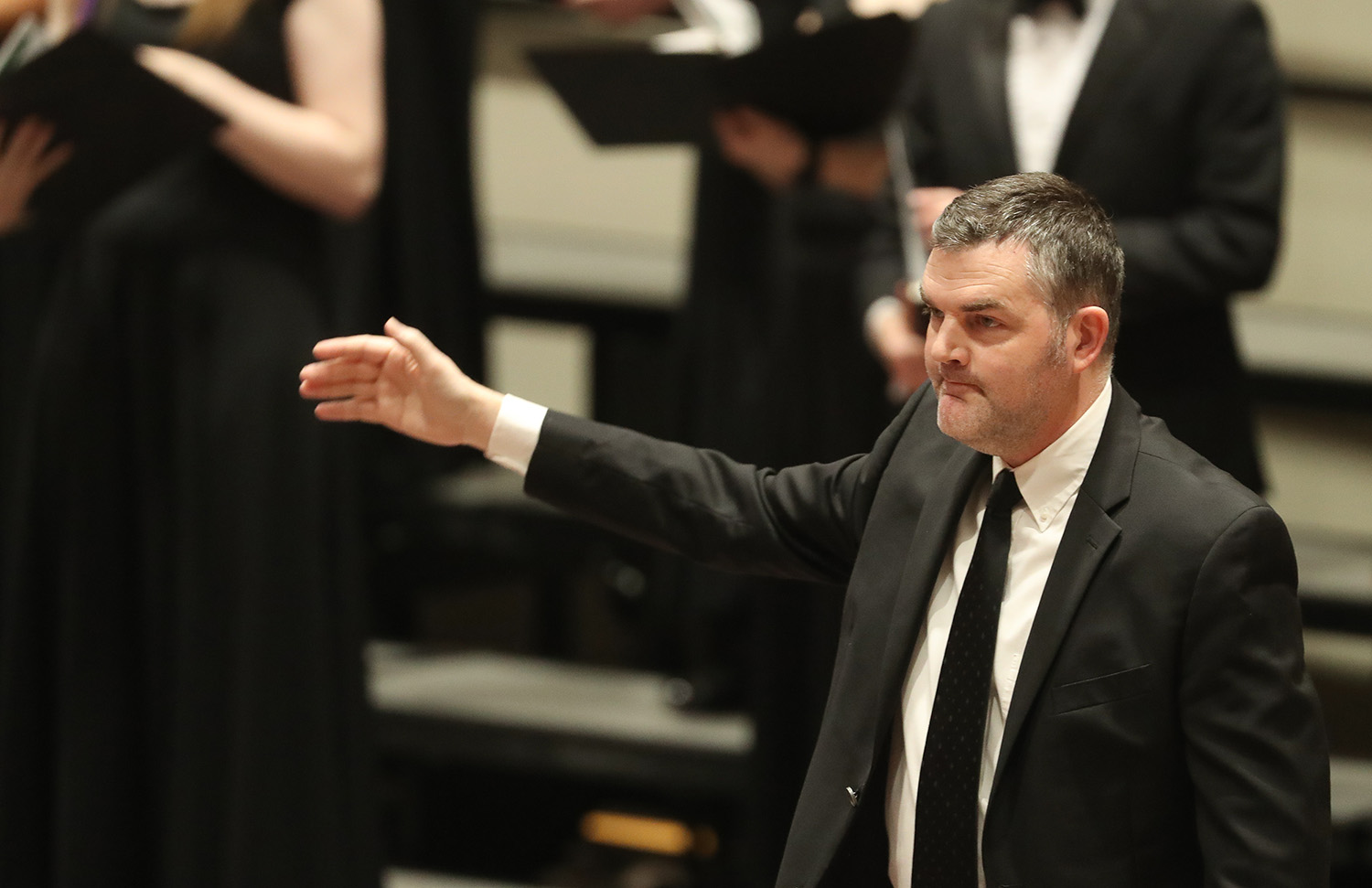 Director of choral activities John Petzet wants to showcase the UNK choirs both locally and at the state level. (Photo by Corbey R. Dorsey, UNK Communications)