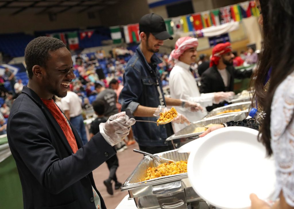 Cuisine from 11 different countries was served Sunday during the Scott D. Morris International Food and Cultural Festival at UNK's Health and Sports Center. (Photos by Corbey R. Dorsey, UNK Communications)