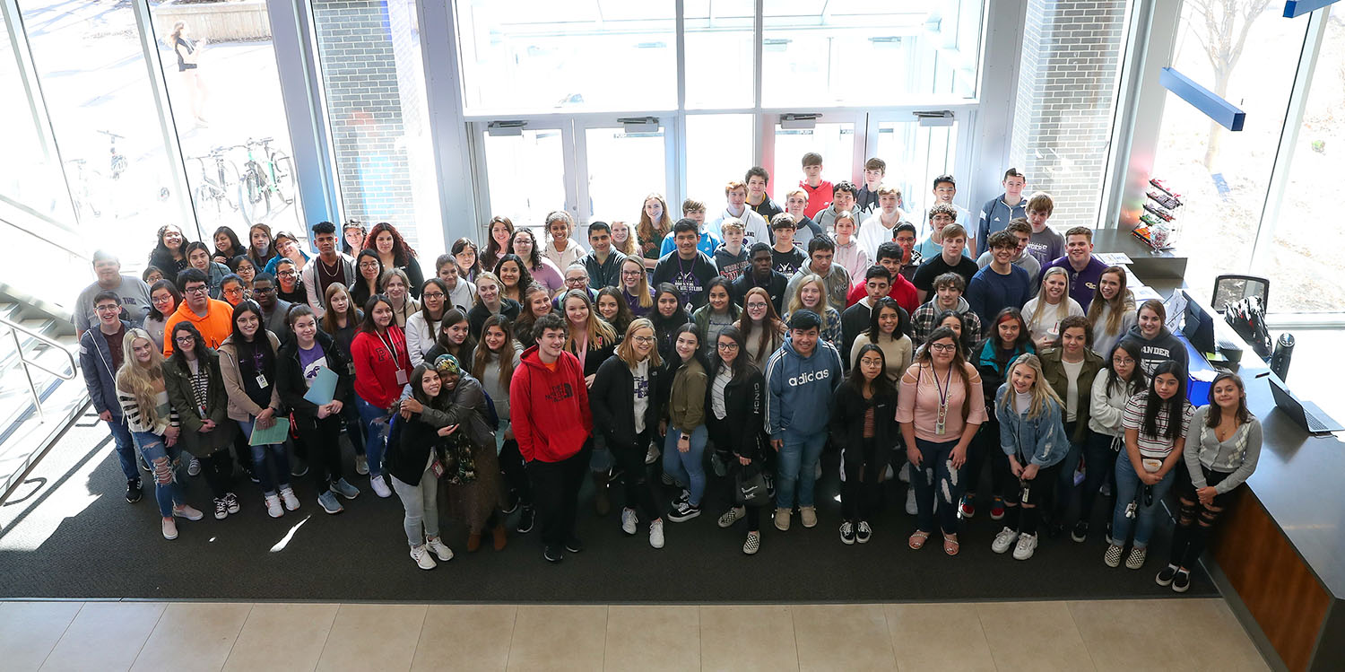 Roughly 100 students from Grand Island Senior High School's Academy of Medical Sciences visited UNK on Wednesday to learn more about the university and its health sciences programs.