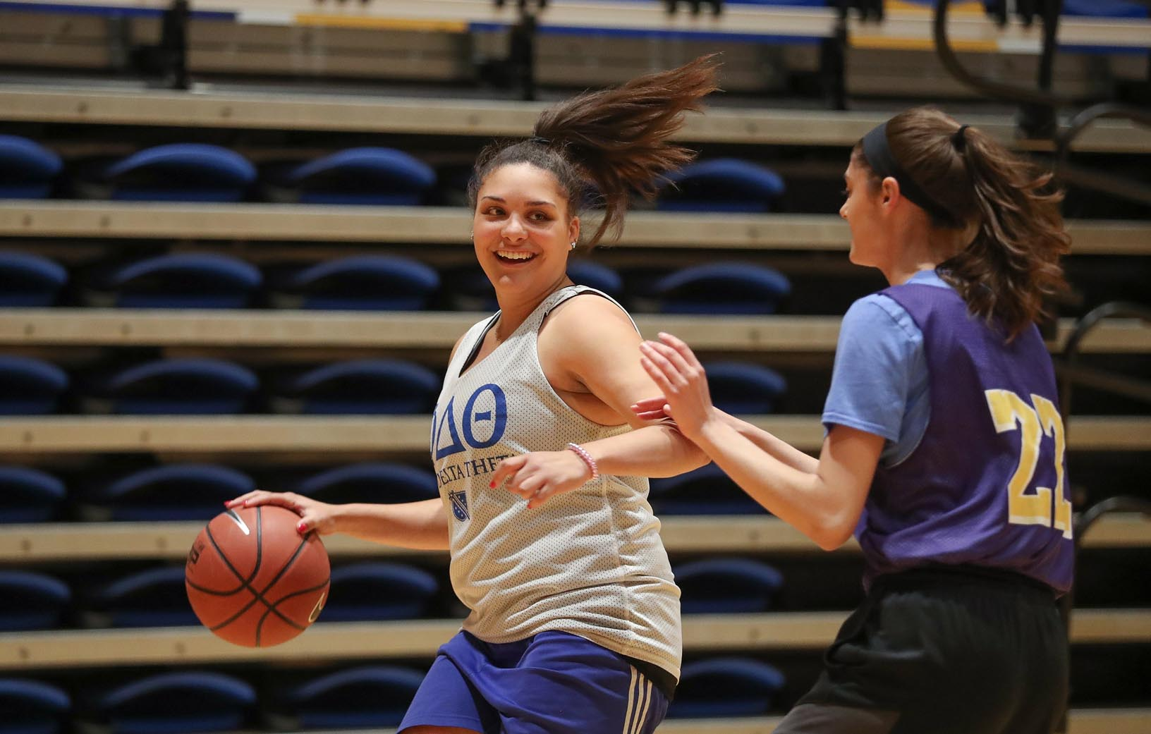 Intramural sports are a popular pastime at UNK. More than 1,200 students participated last academic year. (UNK Communications photos)
