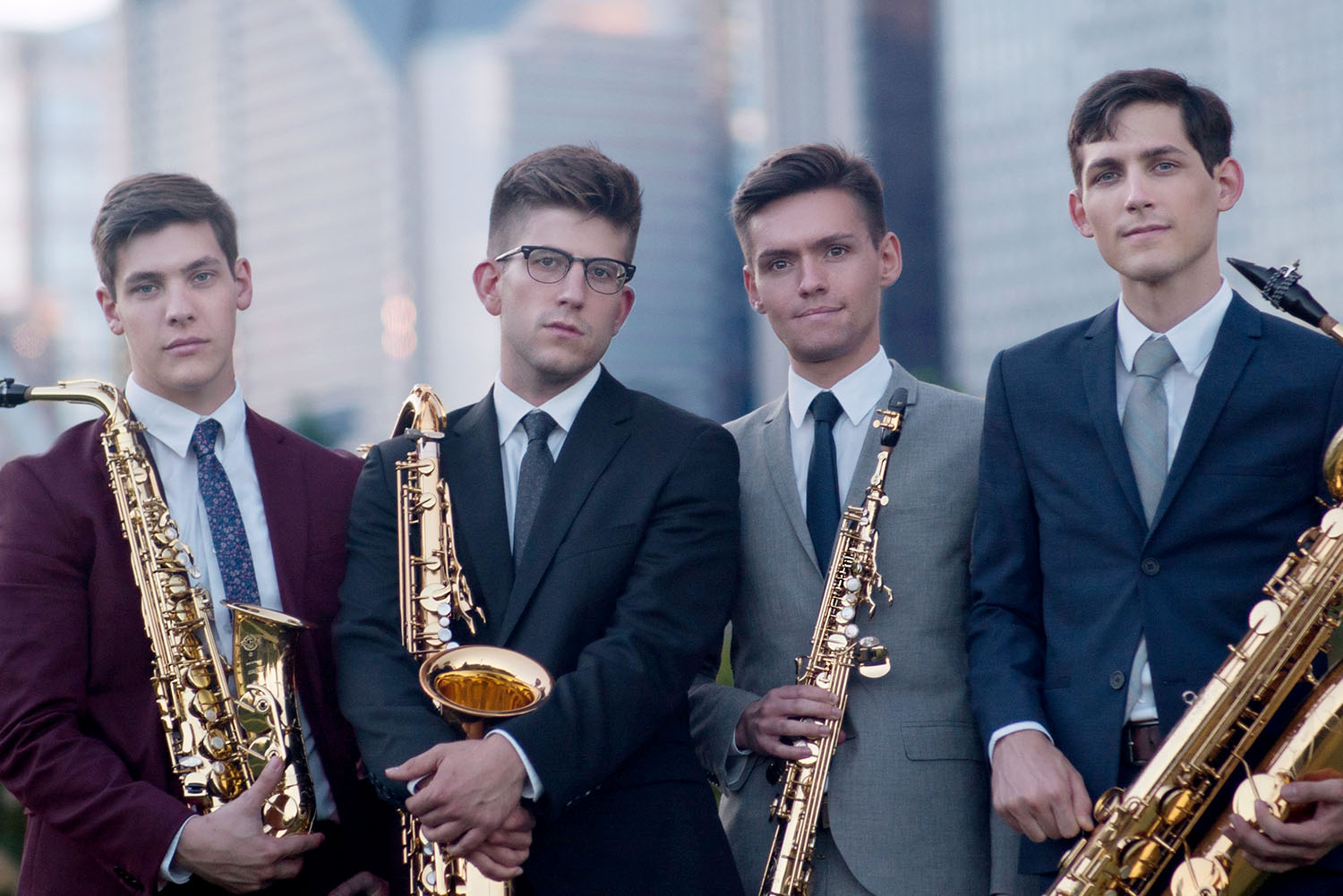 ~Nois, a Chicago-based saxophone quartet, is performing 7:30 p.m. March 14 as part of the UNK New Music Festival. The festival features four concerts in UNK's Fine Arts Recital Hall, all of which are free and open to the public. (Courtesy photo)