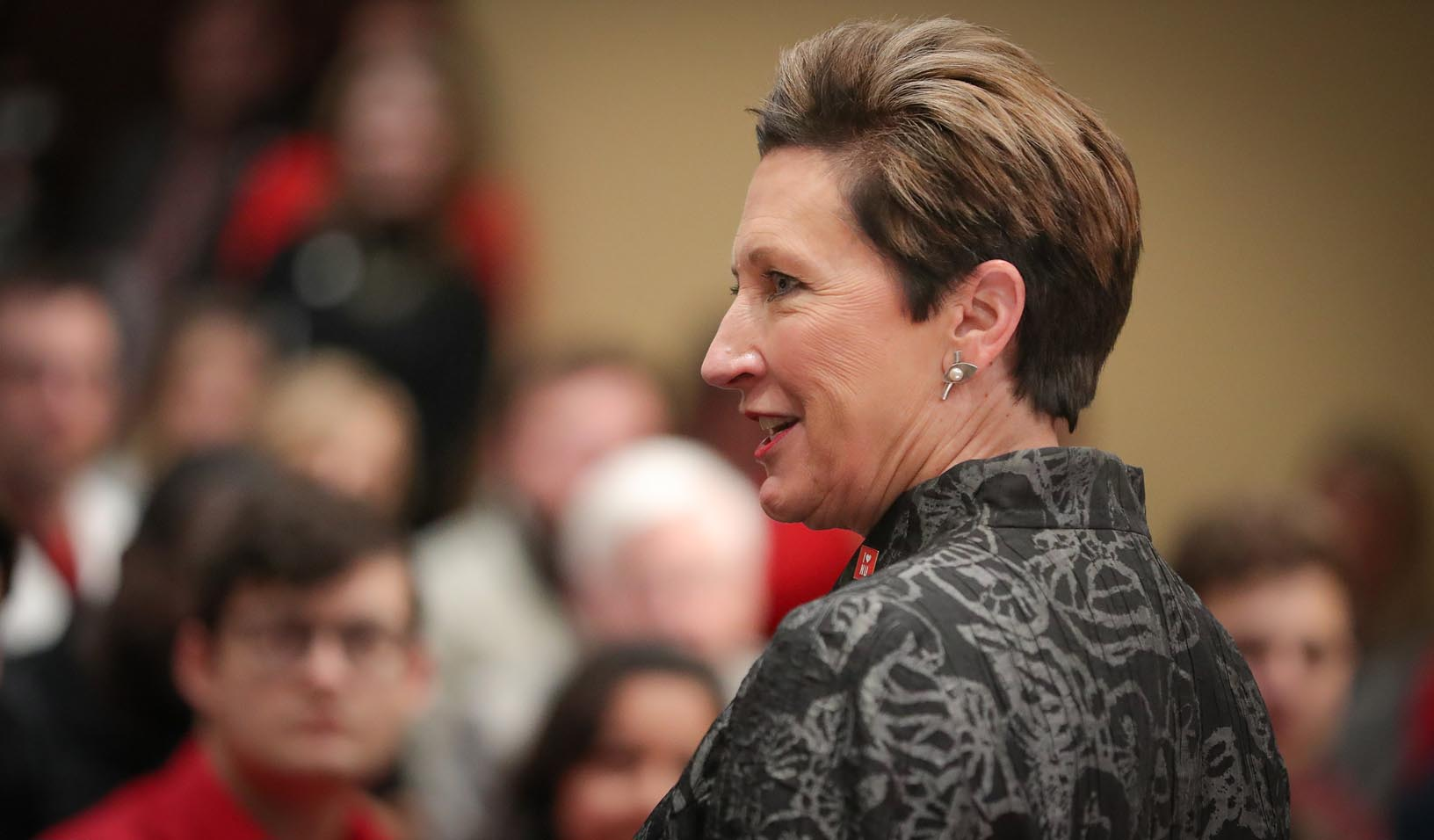 "State Sen. Patty Pansing Brooks of Lincoln speaks Tuesday during ""I Love NU Advocacy Day."""
