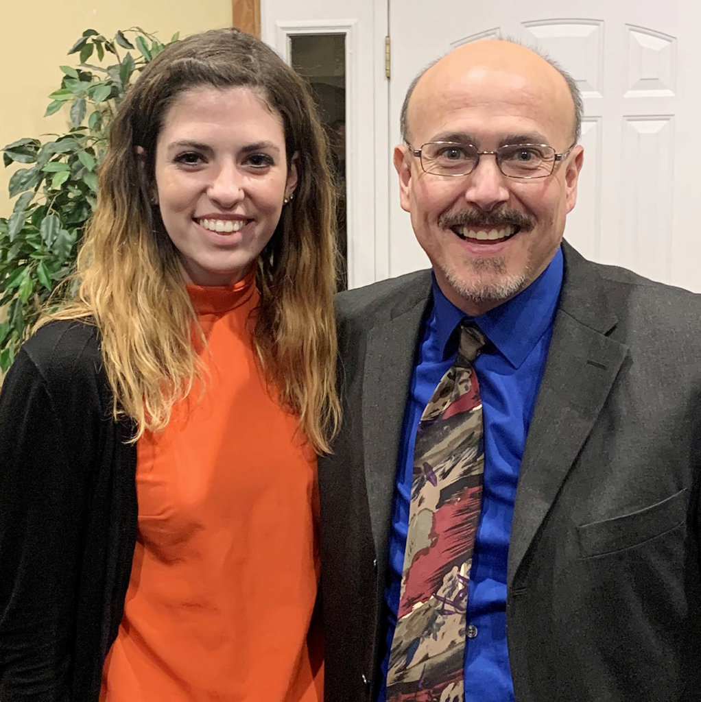 UNK junior Hannah Way, a chemistry major from York, is pictured with associate chemistry professor Allen Thomas. Way conducts undergraduate research under Thomas' mentorship. (Courtesy photo)