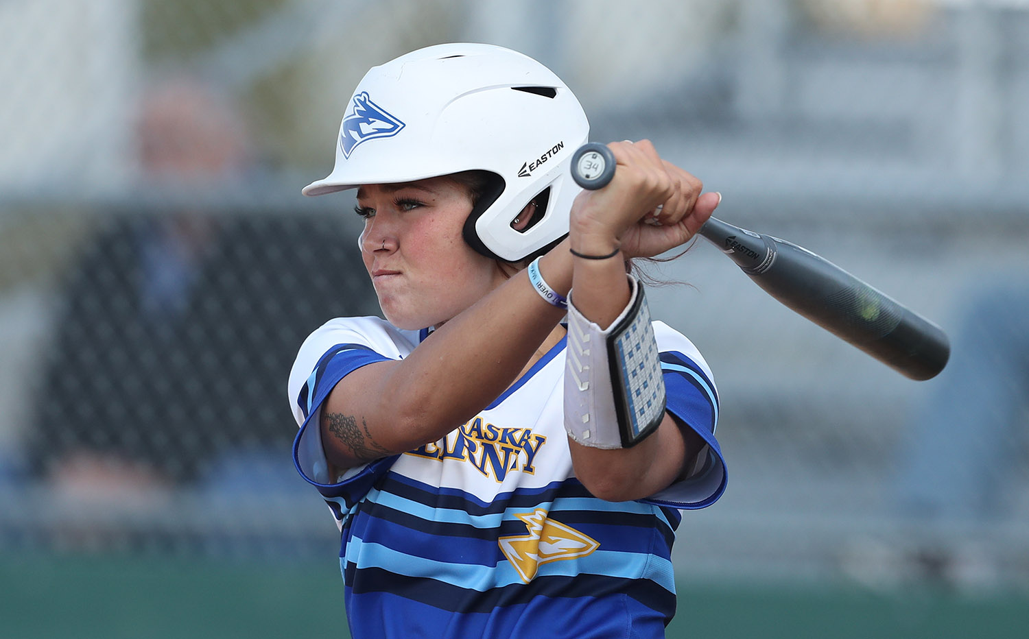UNK senior Kaitie Johnson finished the 2020 season with a career-best .324 batting average and .676 slugging percentage to go along with 12 RBI, nine runs scored and a team-leading four homers. (Photos by Corbey R. Dorsey, UNK Communications)