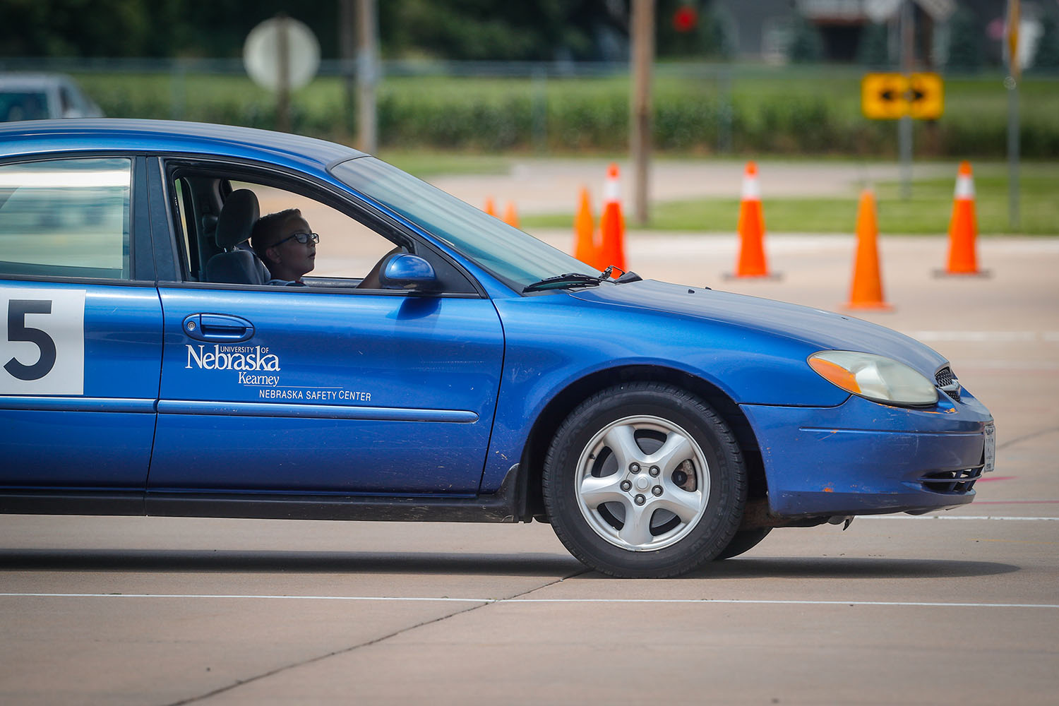 The Nebraska Safety Center is now offering driver education through an online format, allowing teens to participate in the program during the coronavirus pandemic. The program features online curriculum, followed by behind-the-wheel driving with a certified instructor. (Photos by Corbey R. Dorsey, UNK Communications)