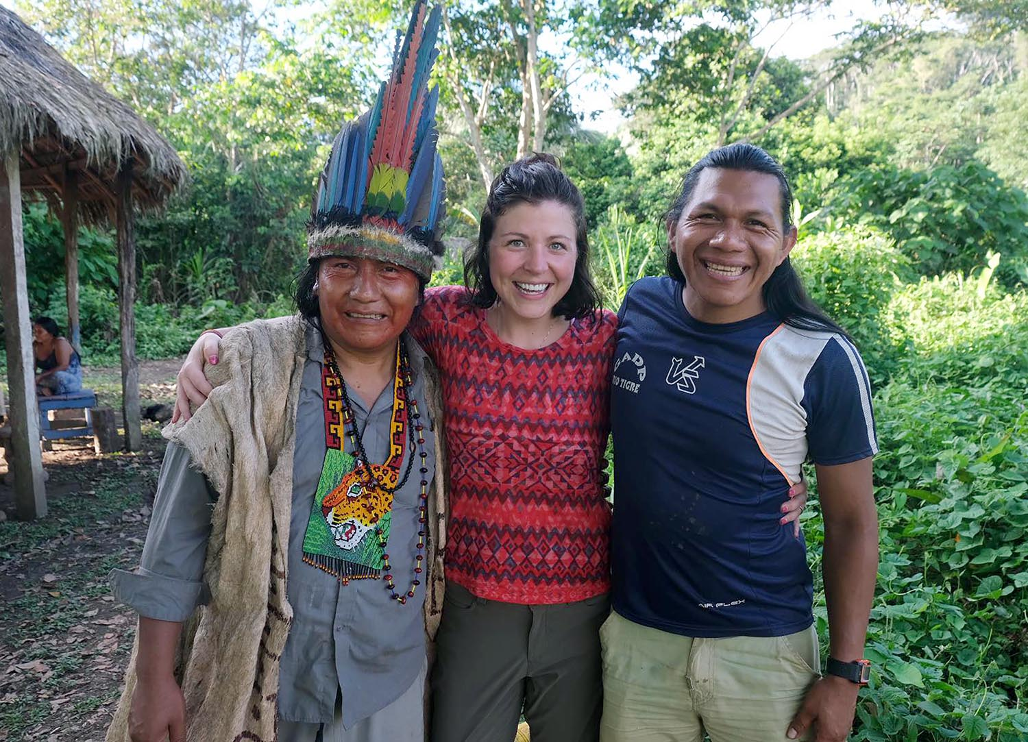Megan Helberg spent two weeks living in the Amazon rainforest with the indigenous Sapara people during a 2019 trip to Ecuador.