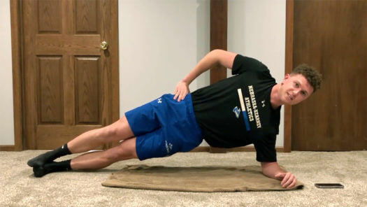 Working out the UNK way: Lopers create home fitness videos for class project