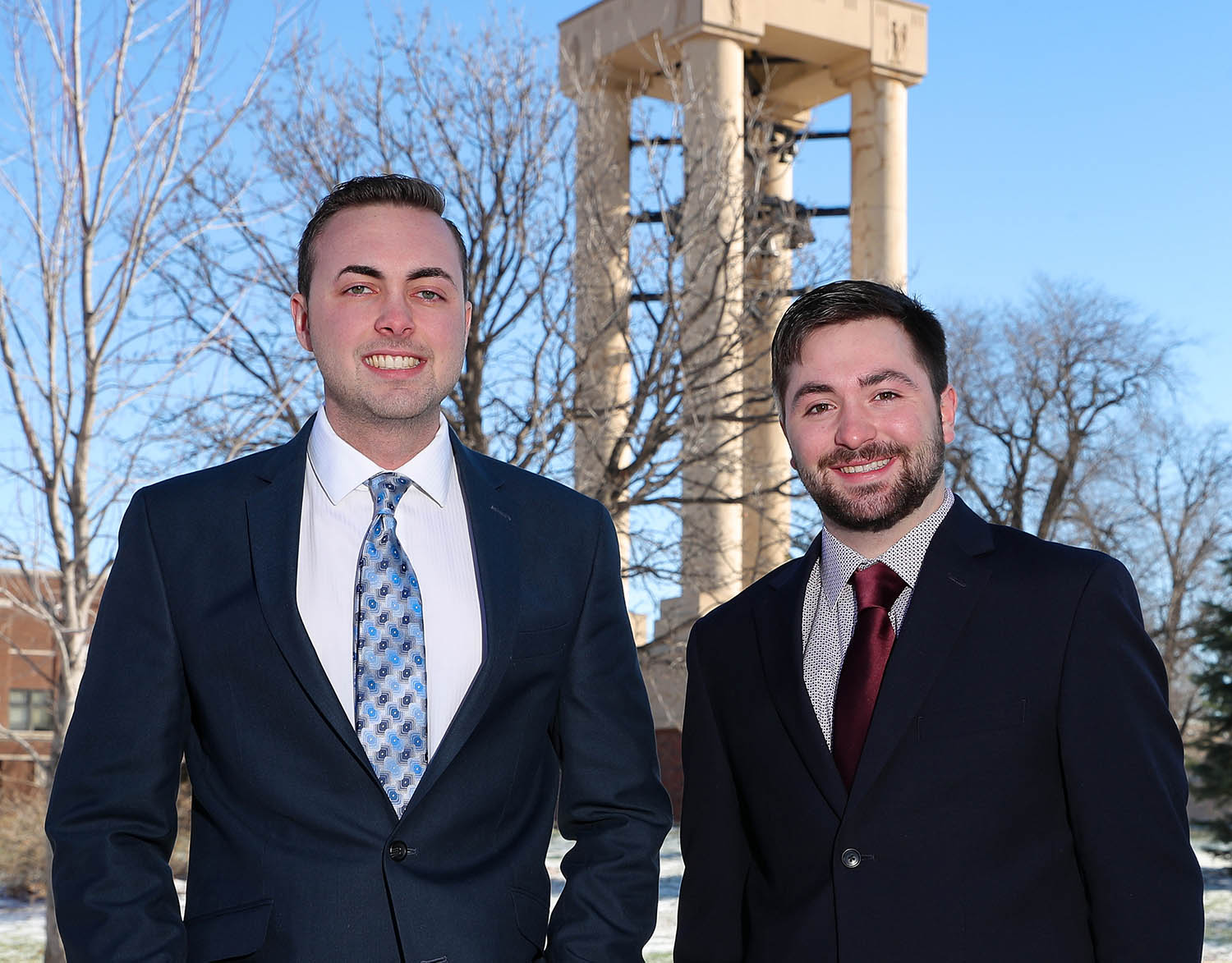Max Beal of Kenesaw, left, and Trey Janicek of Bridgeport were elected UNK student body president and vice president in March. (Photos by Corbey R. Dorsey, UNK Communications)