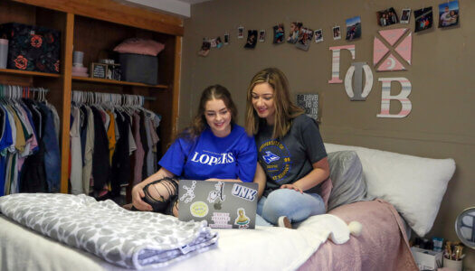 For the first time, University of Nebraska at Kearney students – regardless of their status as first-year or returning students – can request a single room, with no roommate. (Photo by Corbey R. Dorsey, UNK Communications)