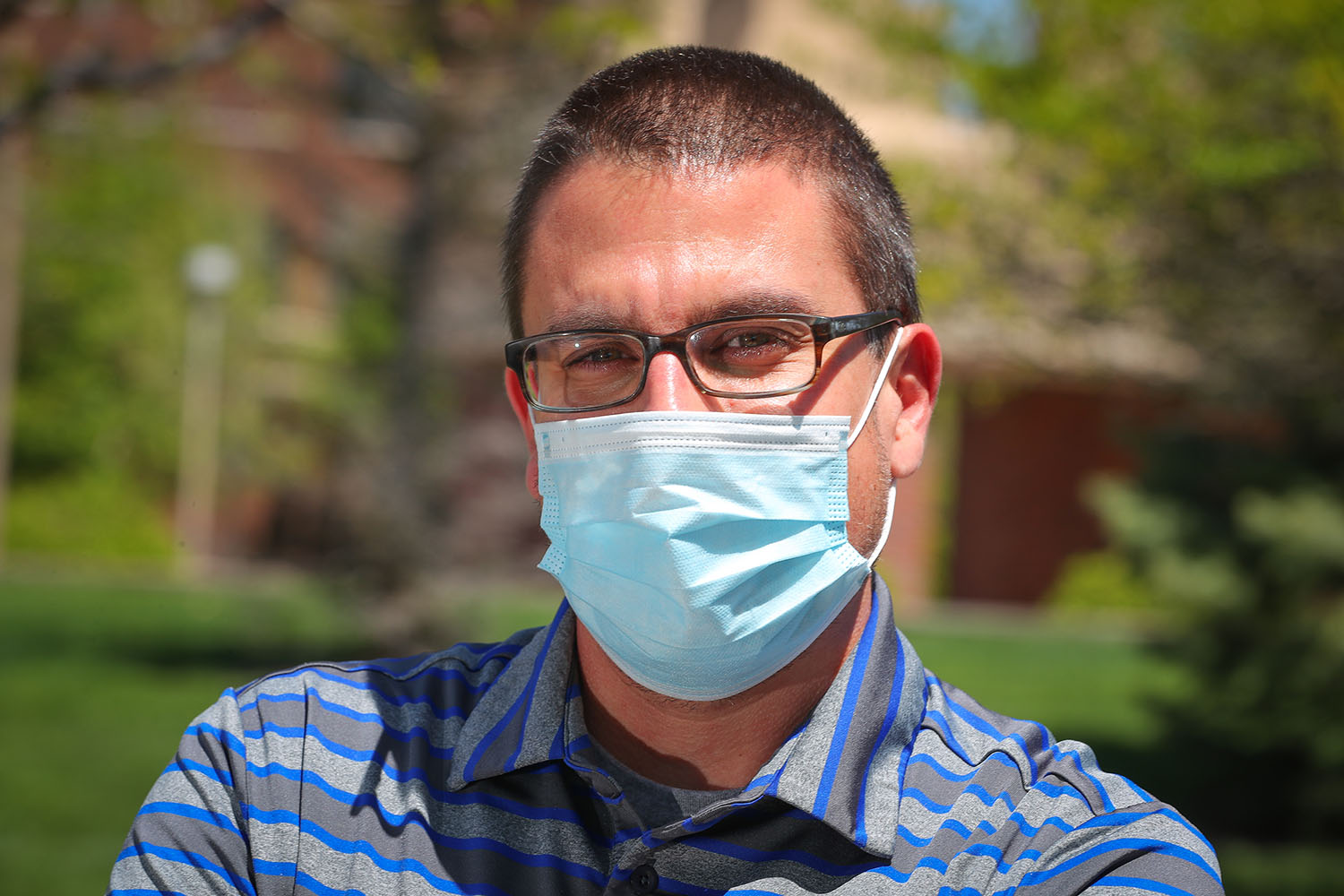 UNK associate history professor David Vail uses lessons from the past to put the current coronavirus pandemic into perspective. (Photo by Corbey R. Dorsey, UNK Communications)