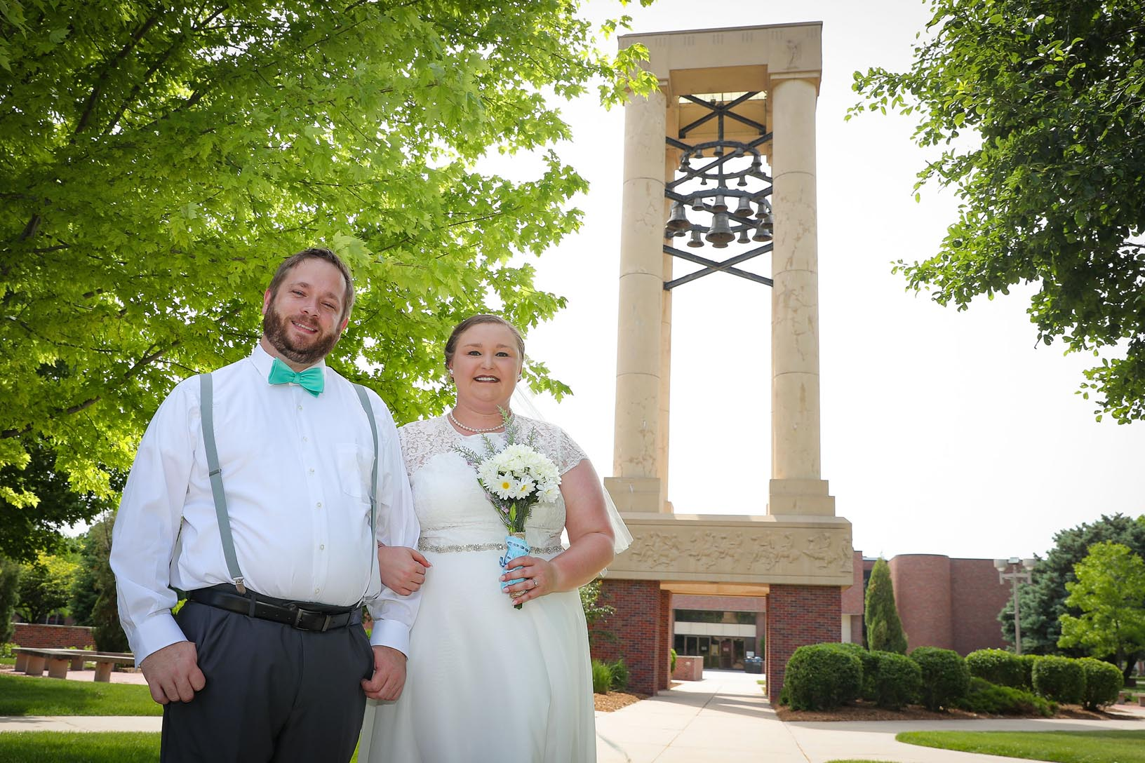 Nick Hobbs and Alexis Page were married Saturday on the UNK campus. Hobbs is an assistant professor in the UNK Department of Biology and Page earned her bachelor's and master's degrees from UNK. (Photos by Corbey R. Dorsey, UNK Communications)