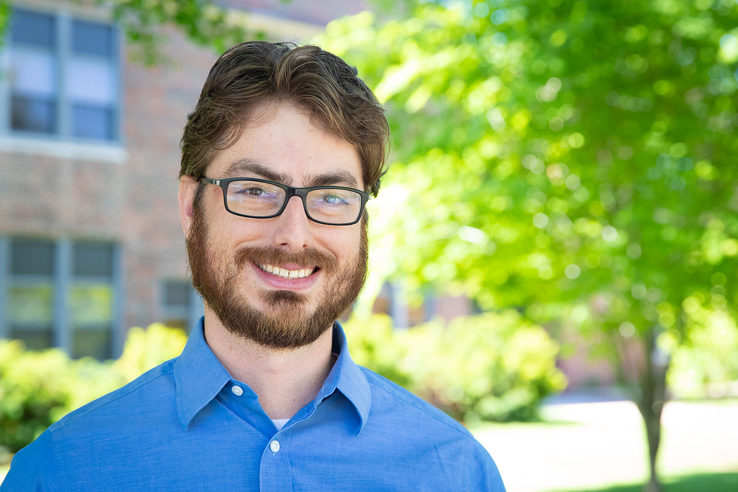 Will Stoutamire returned to UNK this summer as an assistant professor in the department of history. He'll lead UNK's public history programs, which include a public history minor at the undergraduate level and a public history emphasis as part of the Master of Arts in history program. (Photo by Corbey R. Dorsey, UNK Communications)