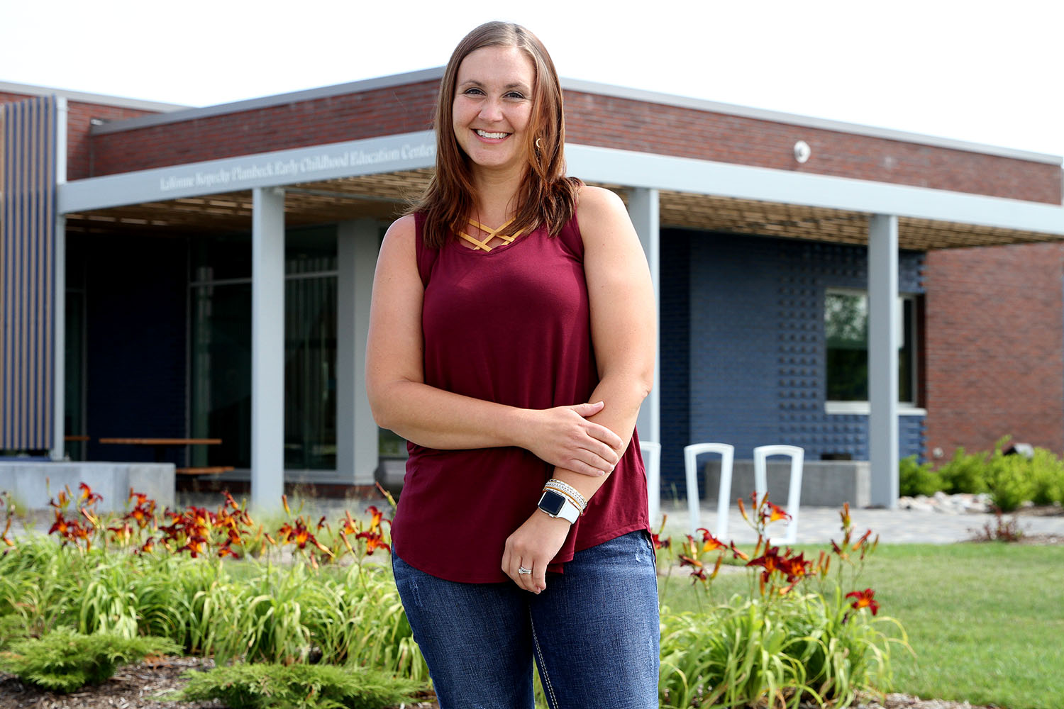 Chelsea Bartling is the new interim director of UNK's LaVonne Kopecky Plambeck Early Childhood Education Center. Bartling has 11 years of experience in the early childhood field as a preschool teacher and early childhood specialist with Grand Island and Kearney public schools, and she worked as a teacher's aide and preschool teacher in UNK's former Child Development Center while enrolled at the university as an undergraduate student. (Photo by Tyler Ellyson, UNK Communications)