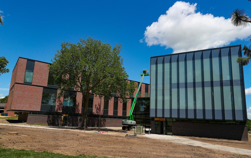 Discovery Hall, a 90,000-square-foot STEM facility located on UNK's west campus, is on schedule to open ahead of the fall semester, which begins Aug. 24.