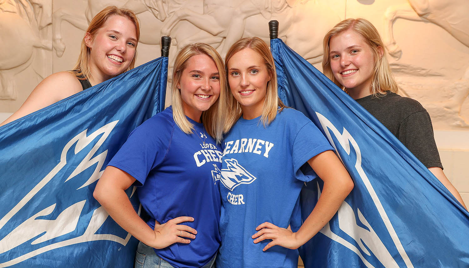 Emily Petersen, second from right, is pictured with her sisters, from left, Rebekah, Sarah and Hannah. Emily, Rebekah and Hannah currently attend UNK and Sarah graduated in May.