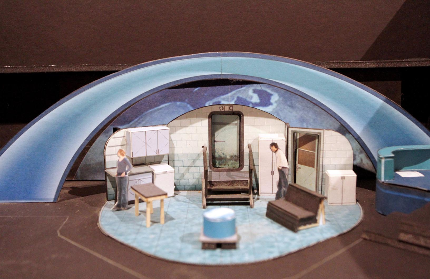 """Ahna Packard created this model while designing a set for the Omaha Community Playhouse production """"BOOM."""""""