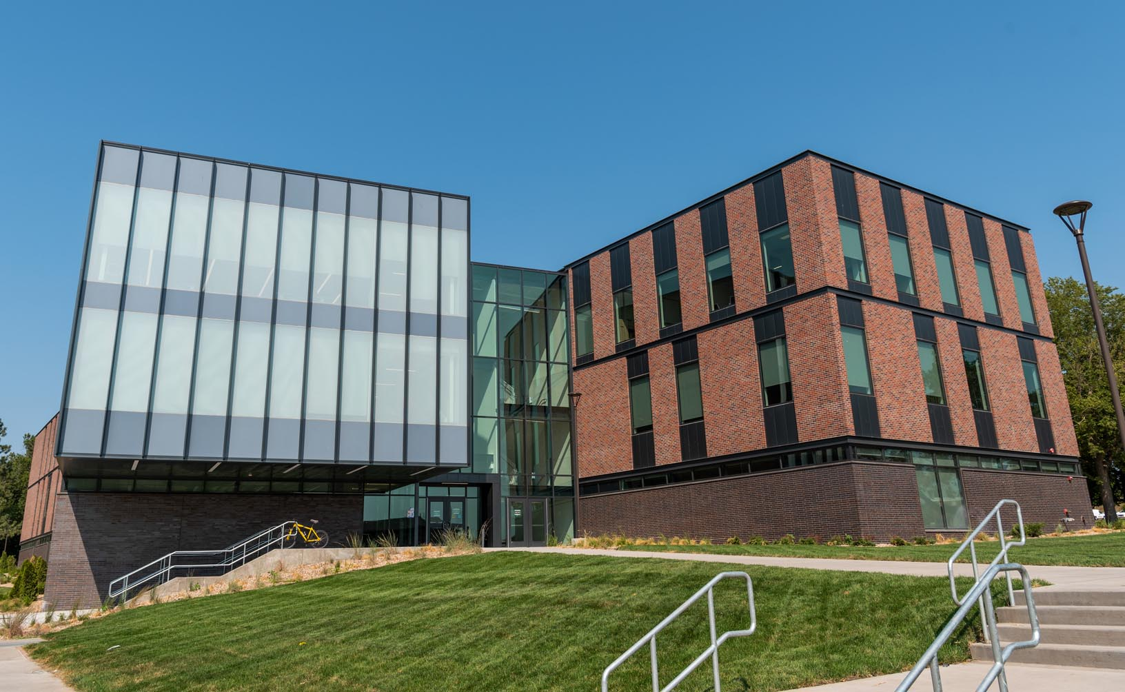 More than a dozen academic programs are housed in Discovery Hall, the newest building on the UNK campus. Classes began last week in the 90,000-square-foot STEM facility.