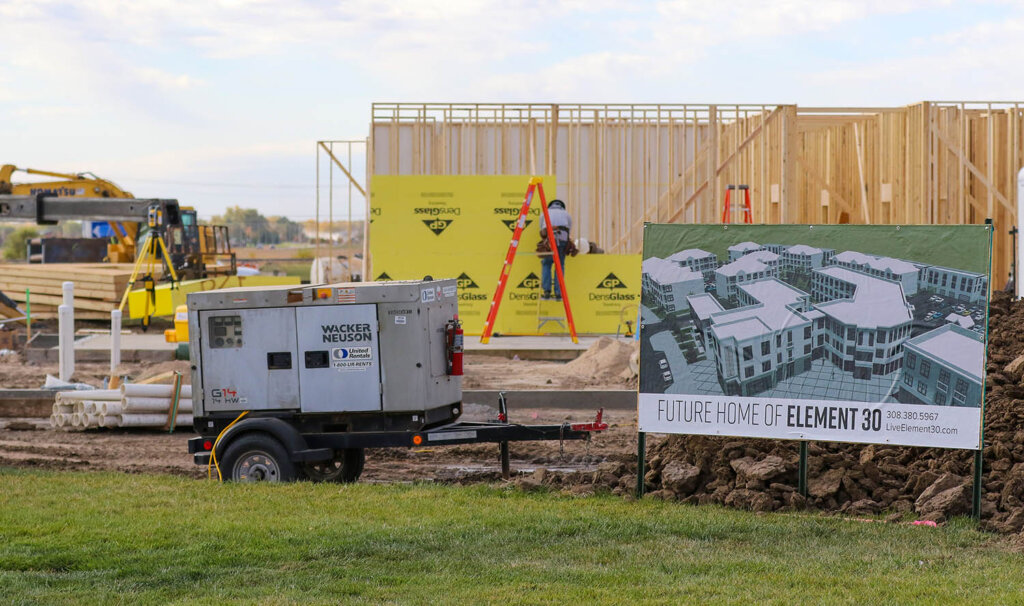 Construction is underway on the first phase of the $48 million Element 30 housing project at UNK's University Village.