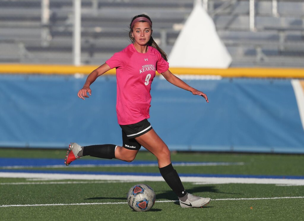 A former South Dakota Class A Player of the Year, Kassidy Kirsch has appeared in 35 matches with 28 starts since joining the UNK soccer team in spring 2018. (UNK Communications)