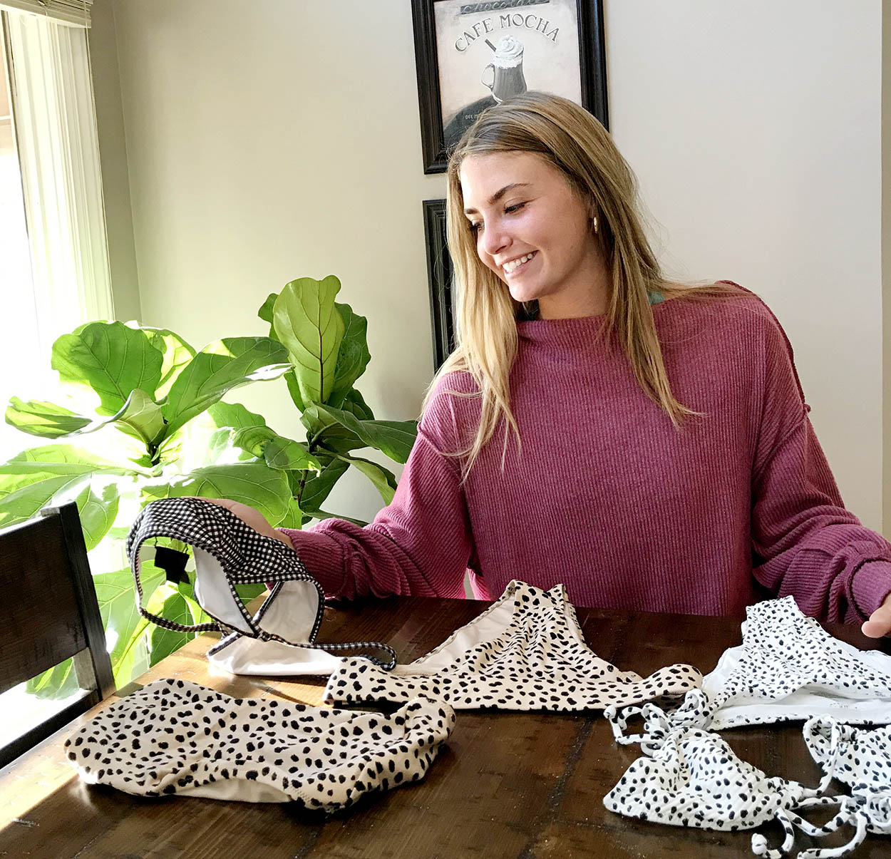 Emma Osowski, a senior from Omaha, won the Big Idea UNK competition with her plan to launch a line of tan-through swimwear. (Courtesy photo)