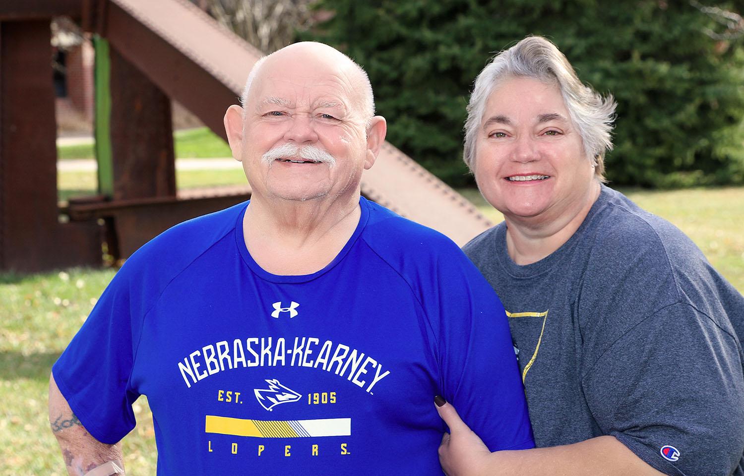 UNK employee Kenny Van Horn and his wife Patty are grateful for the care he received at CHI Health Good Samaritan while battling COVID-19. Van Horn spent 60 days at the Kearney hospital, including three weeks in the intensive care unit. (Photos by Todd Gottula, UNK Communications)