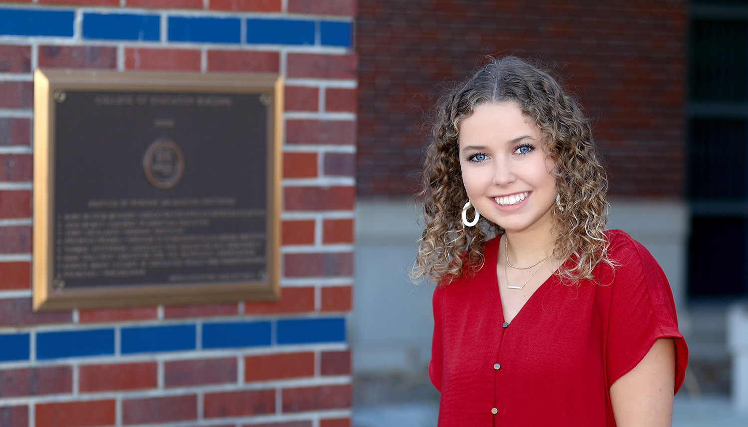 Tiffany Conrad, a middle grades education major from Aurora, is one of 13 students enrolled in a UNK course that provides substitute teachers for area schools. Conrad substitute teaches in Grand Island.